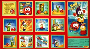 Veggie Tales Bob Lends a Hand 24X44 Fabric Poster Book Craft Panel