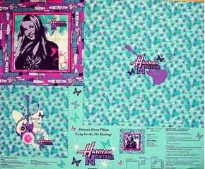Disney Hannah Montana Pillow Cotton Fabric Craft Panel