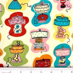 Really Retro Vintage Lamps Cotton Fabric