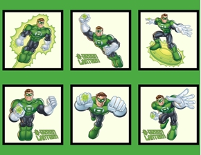 Picture of Green Lantern Super Hero DC Comics Large Cotton Fabric Panel
