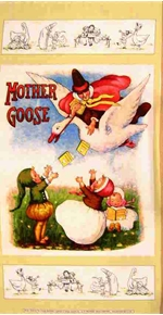 Picture of Mother Goose Vintage Workshop 24x44 Large Cotton Fabric Panel