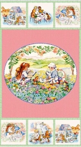 Picture of Sarahs Story Book Playhouse 24x44 Large Cotton Fabric Panel