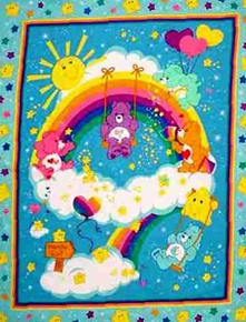 Care Bears Large Cotton Fabric Panel