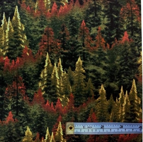 Enchanted Evergreen Forest Thomas Kincade Cotton Fabric