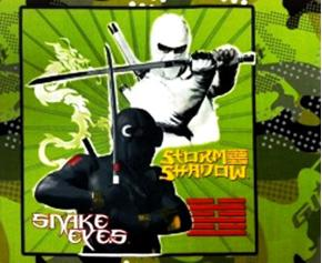 Gijoe Snake Eyes Storm Shadow Cotton Fabric Pillow Panel
