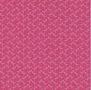 Picture of Love & Hope Cancer Tiny Pink Ribbons on Dark Pink Cotton Fabric