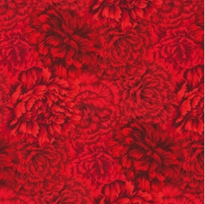 State Flowers Ii Ohio Red Carnations Cotton Fabric