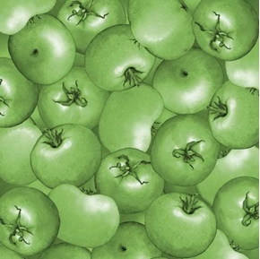 Mcgregors Market Green Tomatoes Cotton Fabric