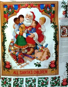 Picture of Santas Children Around the World Wall Hanging Fabric Craft Panel