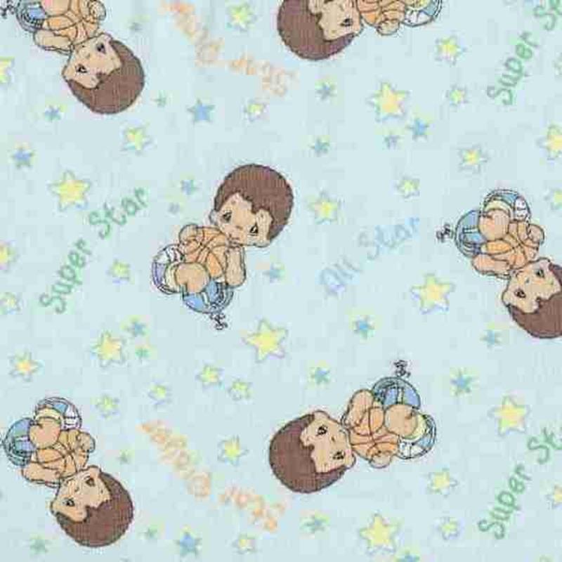 Cotton fabric childrens fabric precious moments boy for Boys cotton fabric