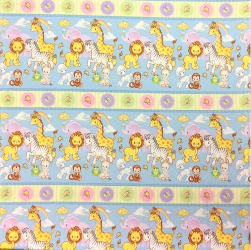 Cotton fabric childrens fabric precious moments baby for Childrens animal fabric