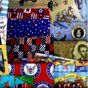 Military And Patriotic Fabric Scrap Bag