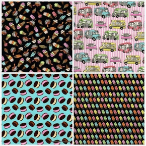 Ice Cream You Scream 4 Fabric Fat Quarter Bundle