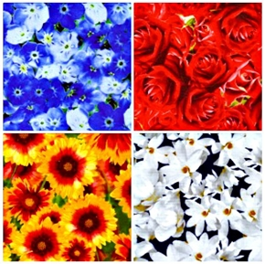 State Flowers 4 Fat Quarter Fabric Collection