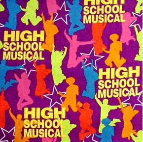 Disney High School Musical Kids Purple Cotton Fabric