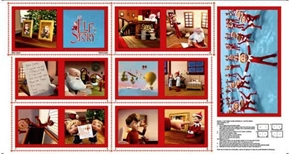 Picture of Elf on the Shelf An Elfs Story 24x44 Cotton Fabric Book Craft Panel