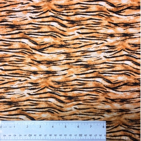 Safari Tiger Fur Pattern Tiger Skin Rust Cotton Fabric