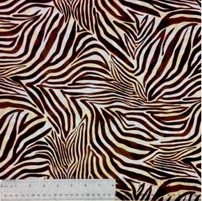 Safari Zebra Fur Pattern Zebra Skin Cotton Fabric