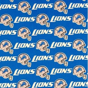 Nfl Football Detroit Lions 18X29 Cotton Fabric