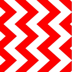 Chevron Chic Quarter Inch Red And White Chevrons Cotton Fabric