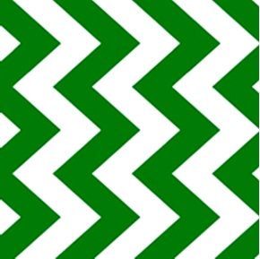 Chevron Chic Quarter Inch True Green and White Chevrons Cotton Fabric