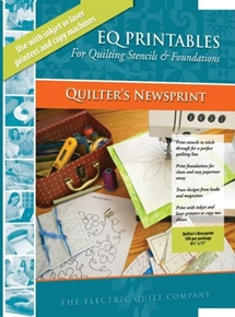 Eq Printables Quilters Newsprint 100 Sheet Pack