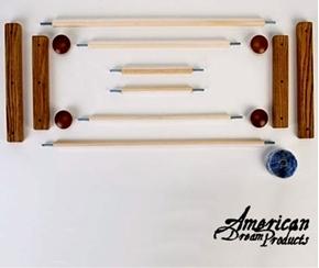 Picture of American Dream Starter Scroll Frame Set Oak - Webbing