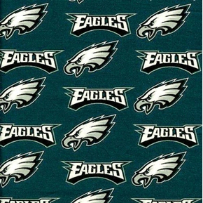 NFL Football Philadelphia Eagles 18x29 Cotton Fabric