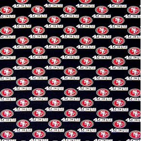 NFL Football San Francisco 49ers 18x29 Cotton Fabric