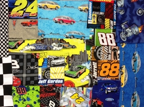 Racing And Car Fabric Scrap Bag