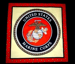 Military Marines Marine Seal Oop Cotton Fabric Pillow Panel