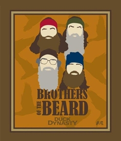 Duck Dynasty Brothers Of The Beard Large Cotton Fabric Panel