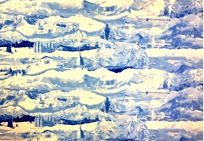 Winter Olympics Host Country History 24X44 Cotton Fabric Panel
