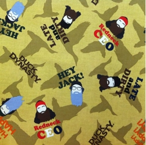 Duck Dynasty Character Toss Brothers Of The Beard Cotton Fabric
