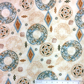 Picture of Sierra Southwestern Native Dream Catcher Designs Cotton Fabric