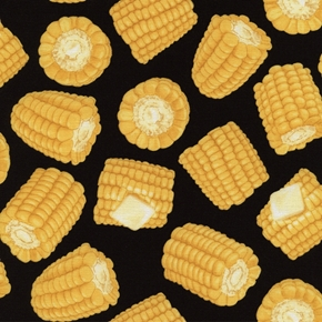 Picture of Got Munchies Hot Buttered Corn on the Cob Cotton Fabric