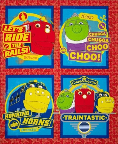 Chuggington Traintastic Cartoon Trains Cotton Pillow Panel Set
