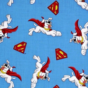 Krypto And Super Shields Super Friends Superdog Cotton Fabric