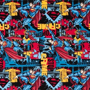 Picture of Superman Stop Crime Superhero Cotton Fabric