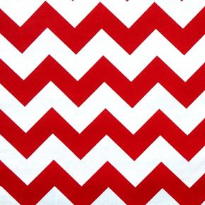 Chevrons Large Three Quarter Inch Chevron Red Cotton Fabric