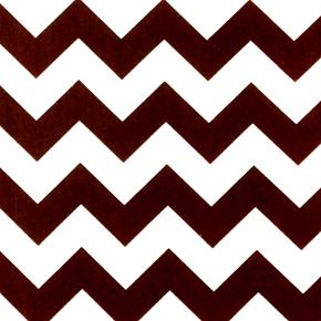 Chevrons Large Three Quarter Inch Chevron Brown Cotton Fabric