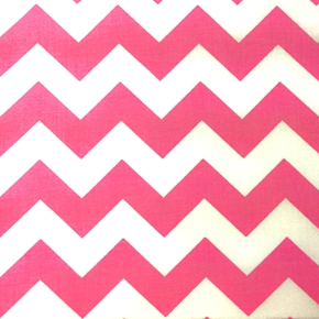 Picture of Chevrons Large Three Quarter Inch Dark Pink Chevron Cotton Fabric