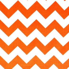 Chevrons Large Three Quarter Inch Orange Chevron Cotton Fabric