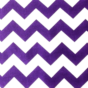 Chevrons Large Three Quarter Inch Purple Chevron Cotton Fabric
