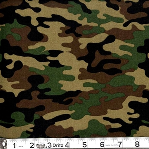 cotton fabric pattern fabric kickin camo army colored camouflage
