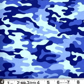Picture of Kickin Camo - Camouflage in Blues Cotton Fabric