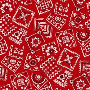 Picture of Bandana Classics Red Bandana Pattern Cotton Fabric