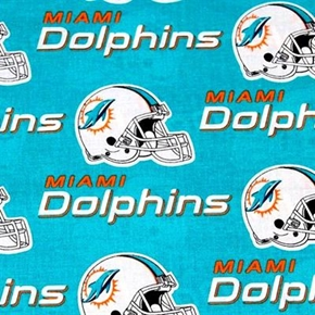 Nfl Football Miami Dolphins 18X29 Cotton Fabric