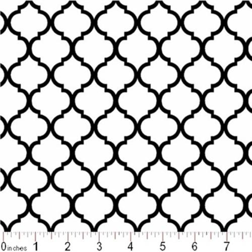 Cotton Fabric Pattern Fabric Mini Quatrefoil Lattice Pattern
