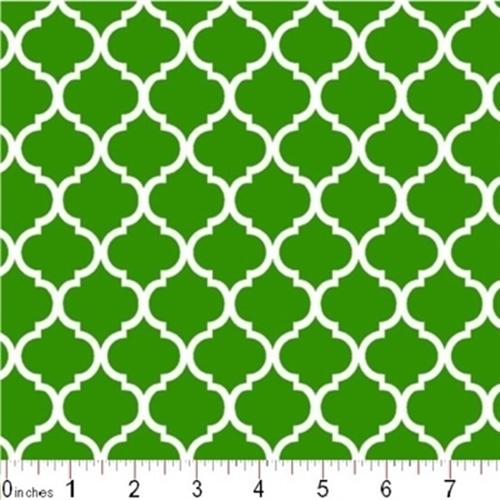 Cotton Fabric - Pattern Fabric - Mini Quatrefoil Lattice Pattern ...
